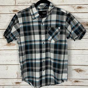 Hurley Button Down Shirt - Boys Small